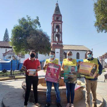 Guardianes de la #Salud recorrieron la Tenencia de Santiago Acahuato.