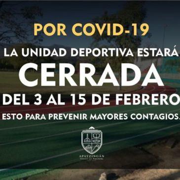 Apatzingán regresa a bandera amarilla debido al incremento de casos Covid-19