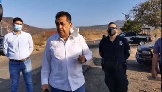 Se instala filtro sanitario en los accesos a la Tenencia de Santiago Acahuato