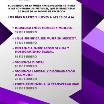 Conferencias Virtuales, Instituto de la Mujer